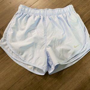 Nike running shorts dri fit light blue
